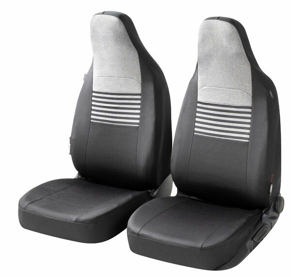 ZIPP IT Premium Car seat covers Gordon for two front seats with zip-system black/grey