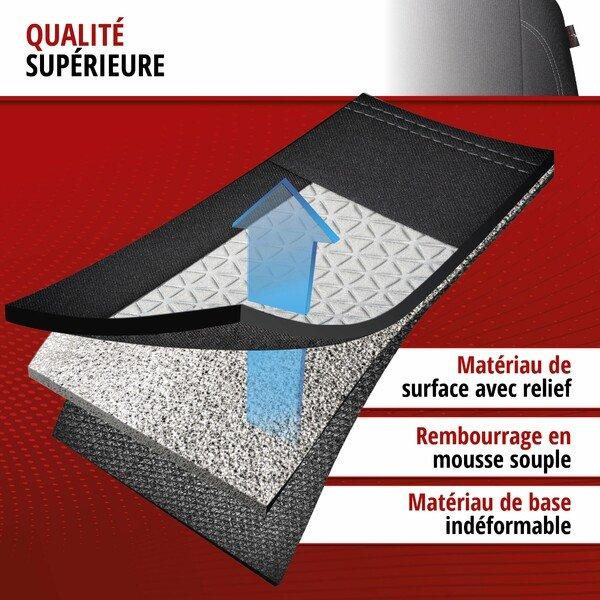 ZIPP IT Premium Housse de sièges Avignon complet avec système de fermeture éclair noir/argent