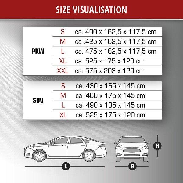 Car hail protection tarpaulin Perma Protect size XL
