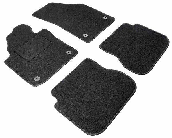 Fußmatten für VW Caddy III 03/2004-05/2015, VW Caddy IV 05/2015-Heute, 2 Schiebetüren