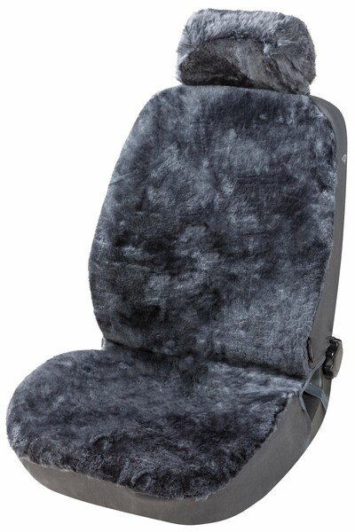 Car Seat cover Iva made of lambskin anthracite with ZIPP IT system