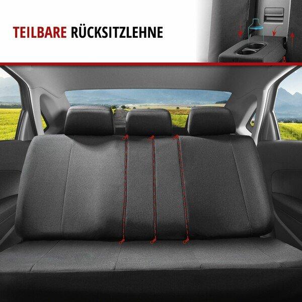 ZIPP IT Autositzbezüge Tratto Komplettset mit Reißverschluss-System schwarz