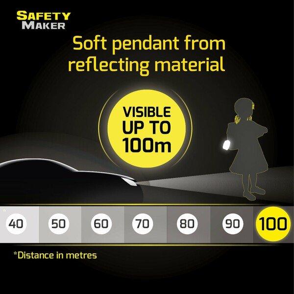 Safety Maker Soft Pendant Pengu silver reflective