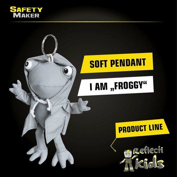Safety Maker Soft Pendant Froggy silver reflective