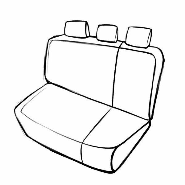 Coprisedili Robusto per VW Polo (6R1, 6C1) 03/2009 - Oggi, 1 Coprisedili posteriore per sedili normali