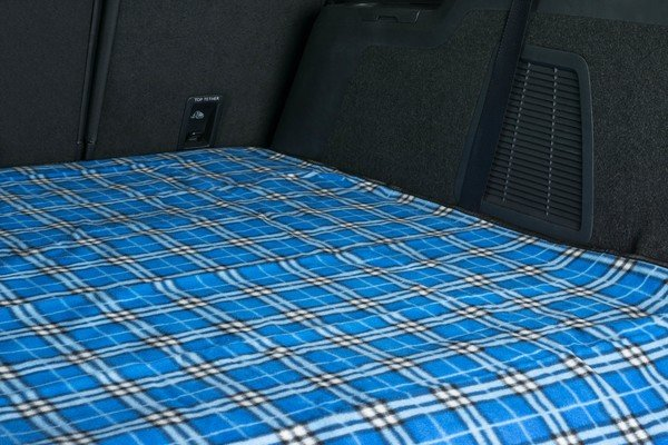 Travelling rug picnic blanket Nessie blue checked 150x130cm