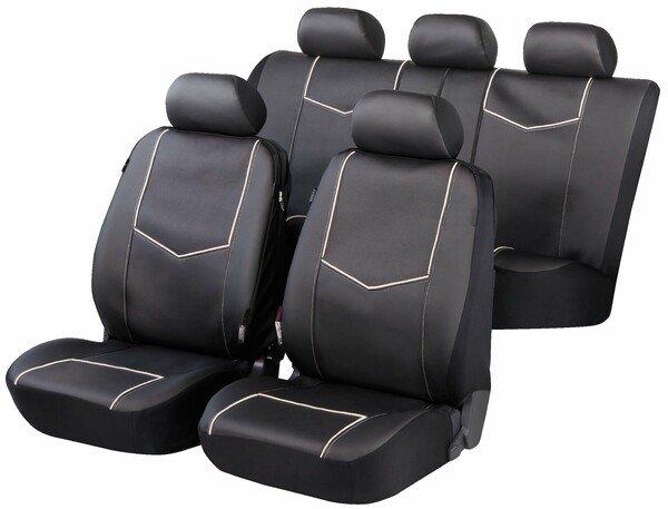 ZIPP IT Deluxe York Autositzbezüge aus Kunstleder mit Reissverschluss System
