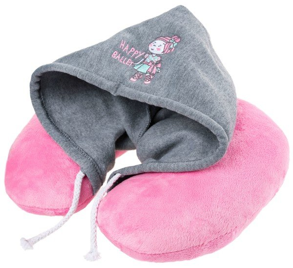 Hood neck roll Ballet Doll pink