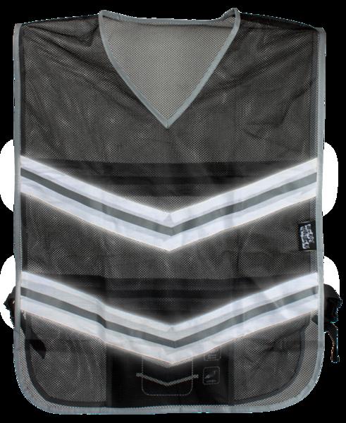 Laufweste mit reflektierenden Streifen schwarz