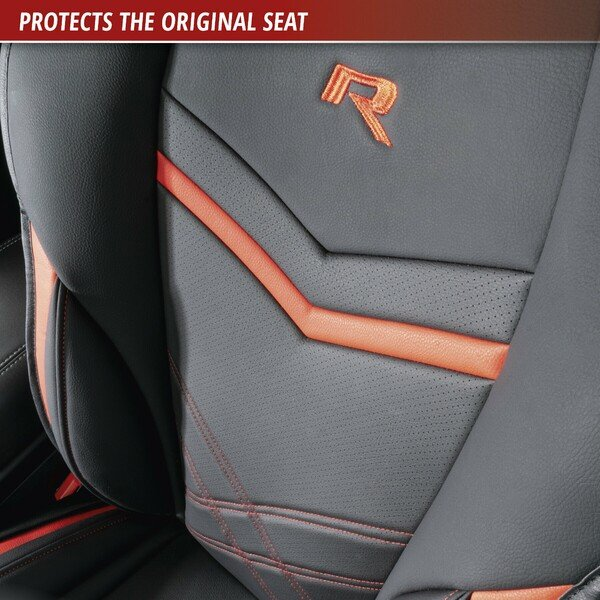 Car Seat cover Rey black-red