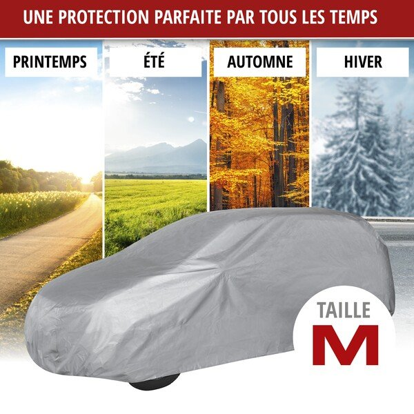 Bâche pour voiture All Weather Light SUV garage complet taille M gris clair