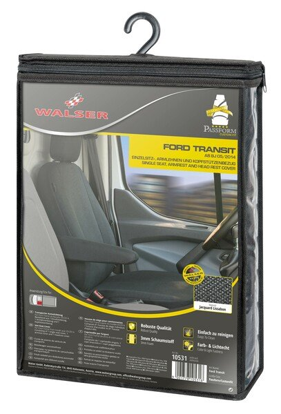 Car Seat cover Transporter made of fabric for Ford Transit, single seat front