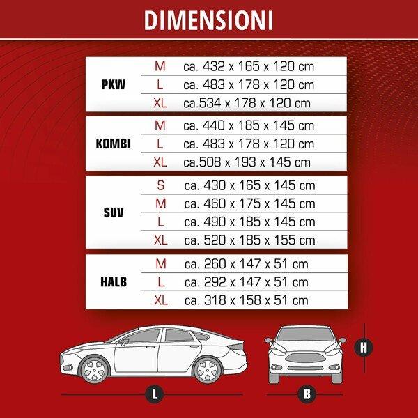 Telone protettivo All Weather Light SUV dimensioni garage completo L grigio chiaro