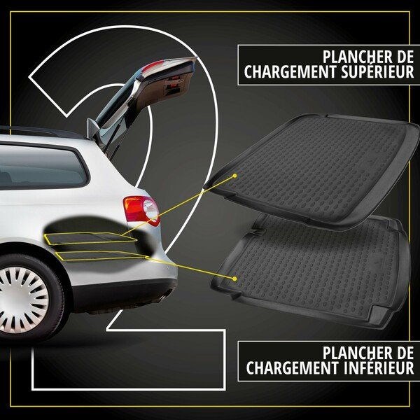 Tapis de Coffre XTR pour Seat Leon ST (5F8) Combi plancher de chargement supérieur, année 09/2012 - aujourd'hui