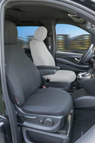 Autoschonbezug Transporter aus Stoff für Mercedes V-Klasse 477, Einzelsitz Beifahrer Armlehne