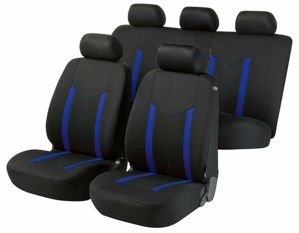 Housses de sièges Hastings bleu set complet