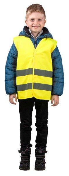Sicherheitsweste Größe XS für Kinder 3-6 Jahre Gelb EN 1150