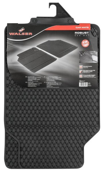 Rubber mats for Robust front mats black
