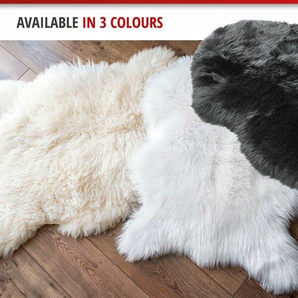 Lambskin carpet Seat cover Beal beige 100-105 cm long