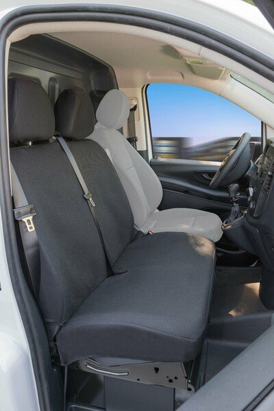 Transporter Seat covers made of polyester for Mercedes Vito 447, double bench in front