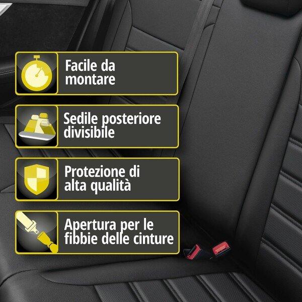 Coprisedili 'Robusto' per Audi A3 anno di costruzione 2012 fino ad oggi - 1 Coprisedili posteriore per sedili normali