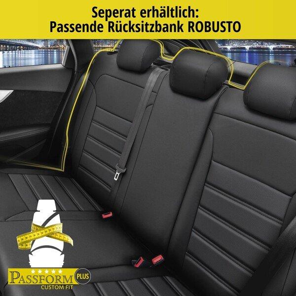 Passform Sitzbezug Robusto für Audi A3 Baujahr 2012 - Heute, 2 Einzelsitzbezüge für Normalsitze