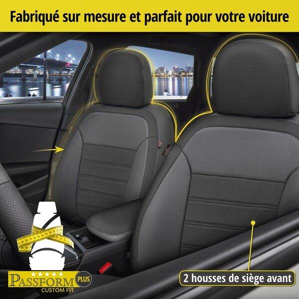 Housse de siège Aversa pour Renault Clio III BR0/1, CR0/1 année 01/2005-12/2014, 2 housses de siège pour sièges normaux