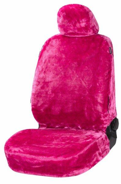 Car seat cover Teddy faux fur vegan pink