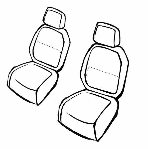Coprisedili Bari per Opel Astra 06/2015 fino - Oggi, 2 Coprisedili singoli per sedili sportivi