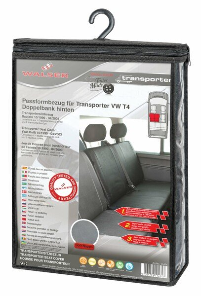 Car Seat covers for VW T4 double bench rear from imitation leather for year of construction 10/1998 - 03/2003