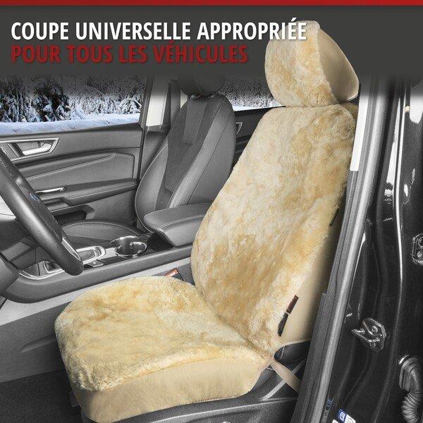 Housses de sièges Iva en agneau beige avec système informatique ZIPP