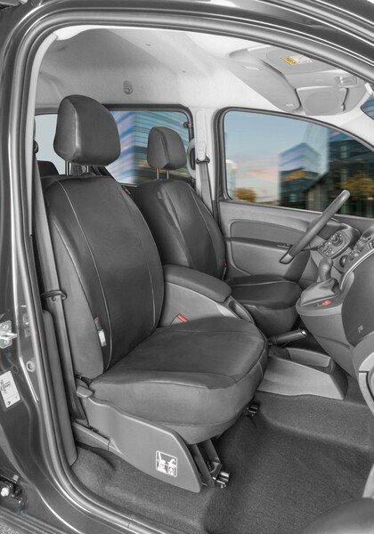 Housse de siège Transporter en simili cuir pour Renault Kangoo type W, 2 sièges avant simples