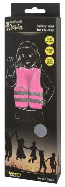 Safety vest 3-6 years pink