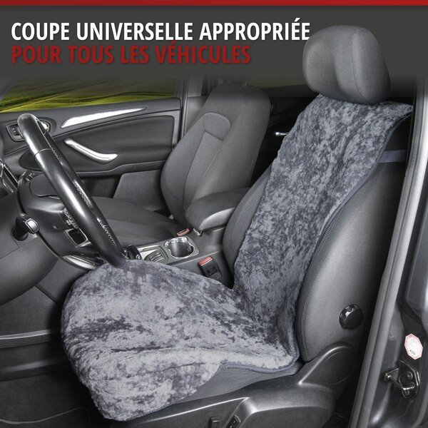 Housses de sièges en agneau Vogue anthracite 16-18mm hauteur de fourrure