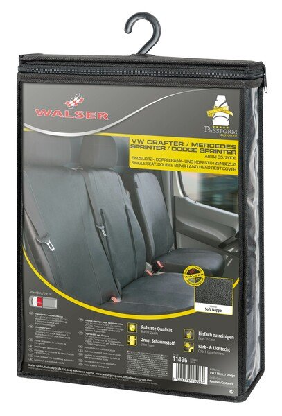 Car Seat covers for VW T5 single front seat made of imitation leather from year of construction 09/2009 - today