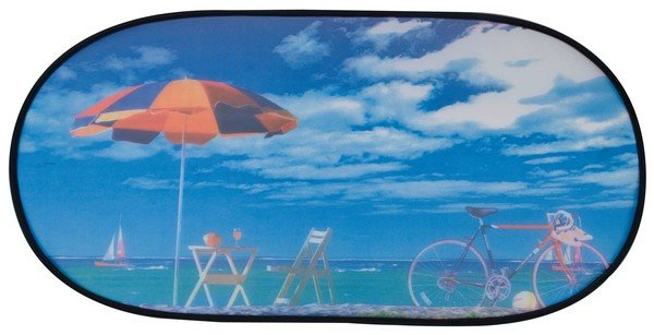 sun protection rear window self-adhesive 100 x 50 cm motif beach holiday