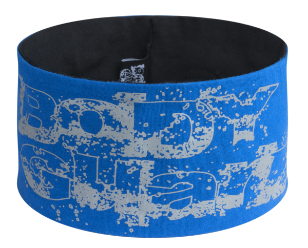 reversible headband blue-silver