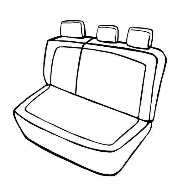 Sitzbezug Expedit für Opel Corsa 2014 - Heute, 1 Rücksitzbankbezug für Normalsitze