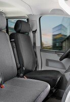 Car Seat covers for VW T5 single front seat made of fabric Year of construction 04/2003 - 08/2009