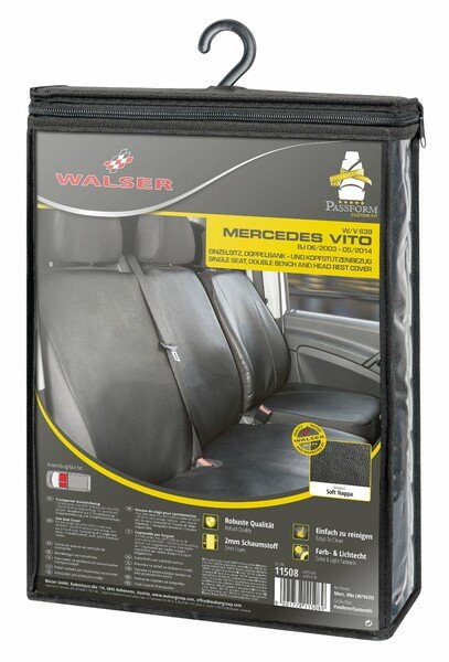 Car Seat covers for Mercedes-Benz Vito and Viano (W639) Single seat and double bench synthetic leather soft