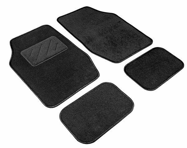 Autoteppich Smart Universal schwarz, schwarz eingefasst