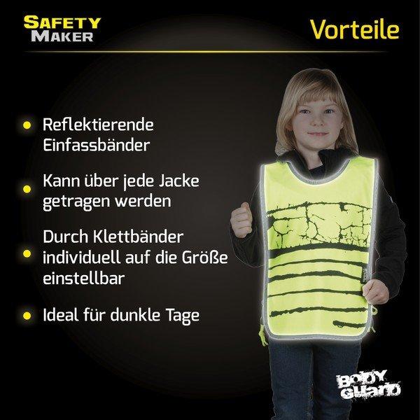 Reflektierende Kinderweste gelb