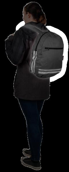 Faltbarer Rucksack schwarz