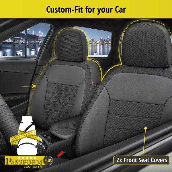 Seat cover Aversa for Dacia Duster (HS) year 04/2010-01/2018, 2 seat covers for normal seats