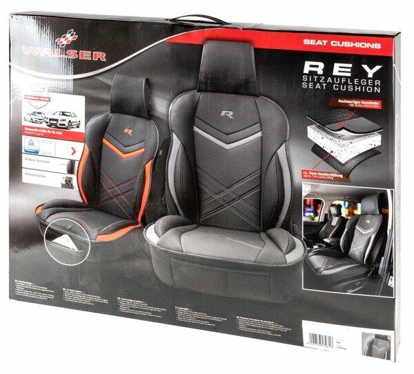 Couvre-siège auto Rey noir-gris