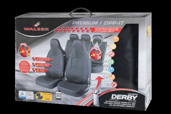 ZIPP IT Premium Derby Autositzbezüge Komplett Set mit Reißverschluss System