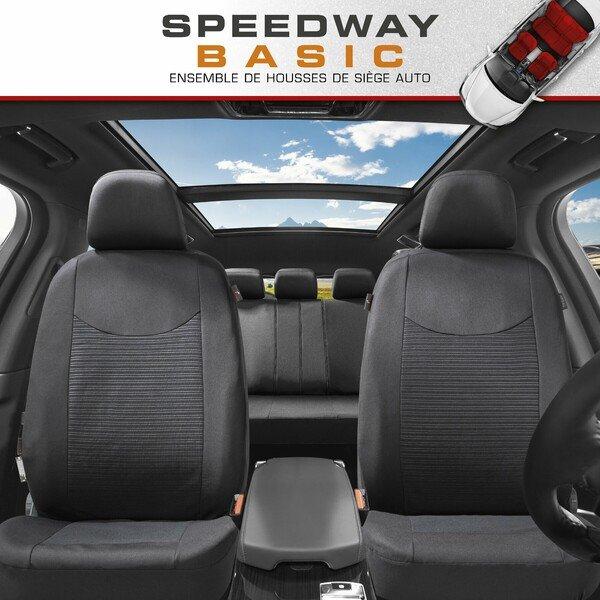 ZIPP IT Housse de sièges Speedway complet avec système de fermeture éclair noir