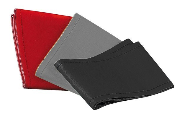 leather steering wheel cover steering wheel cover 37/39 cm black