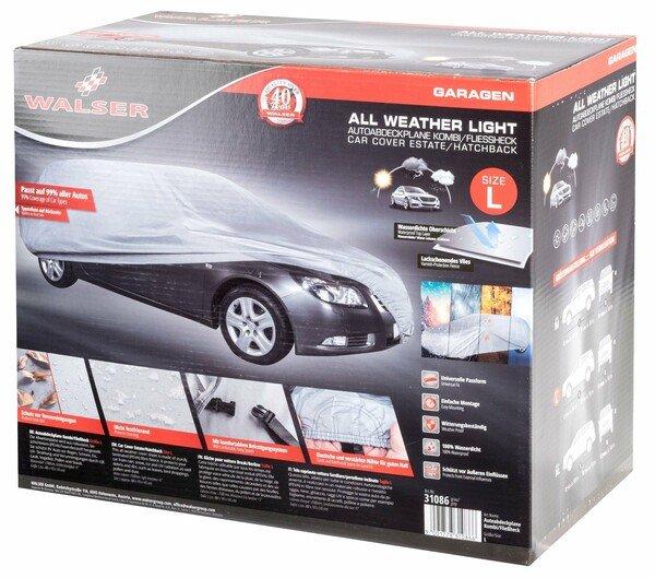 Car tarpaulin All Weather Light Kombi Full garage size L light grey
