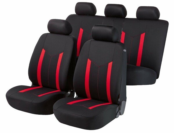 Autositzbezug Hastings rot Komplett Set